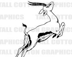 Springbok clipart black and white