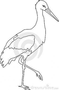 Stork clipart black and white