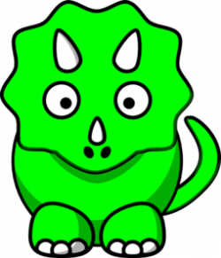 Triceratops clipart green