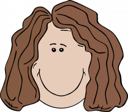 Brunette clipart woman's face
