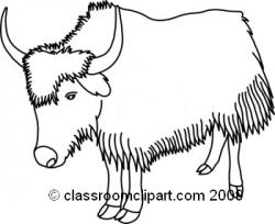 Yak clipart outline