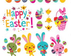 Headband clipart happy easter