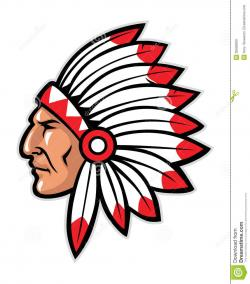 Native American clipart chief head