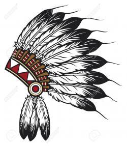 Native American clipart headband