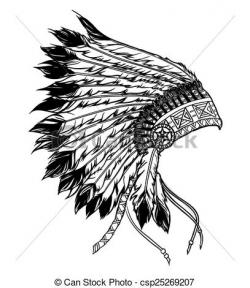 Aboriginal clipart indian headdress