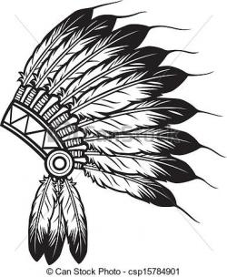 Headdress clipart black and white