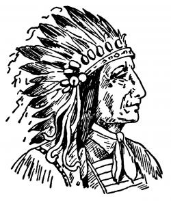 Chief clipart black and white