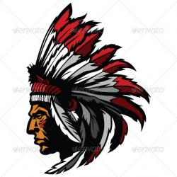 Headdress clipart indian mascot