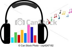 Headphone clipart colorful