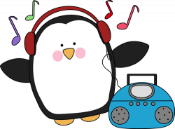 Music clipart penguin