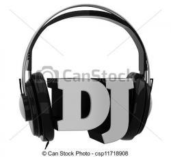 Headphone clipart dj logo