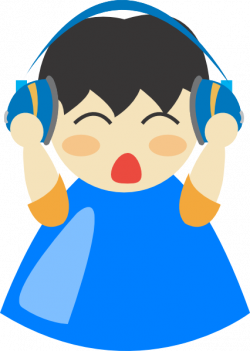 Headphone clipart for kid