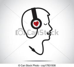Headphone clipart i love