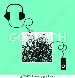 Headphone clipart mp3 player
