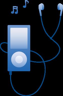 Ipod clipart blue