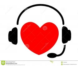 Headphone clipart music heart