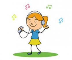 Headphone clipart music listening