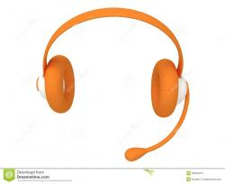 Headphone clipart orange