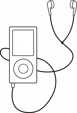 Ipod clipart black and white