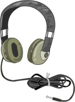 Headphone clipart output device
