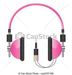 Headphone clipart pink headphone