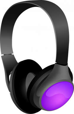 Headphone clipart purple