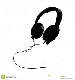 Headphone clipart silhouette