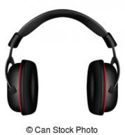 Headphone clipart vector