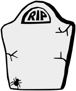 Drawn headstone halloween tombstone