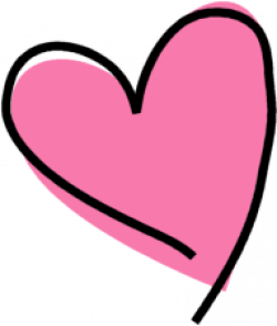 Funky clipart drawn heart