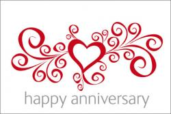 Hearts clipart happy anniversary