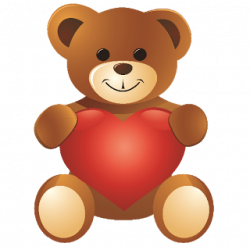 Teddy clipart cute heart