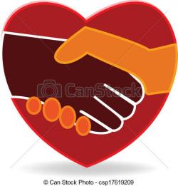 Heart clipart handshake