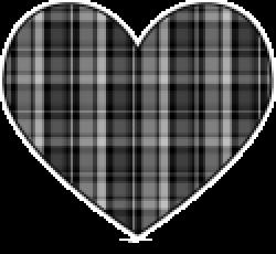Plaid clipart heart