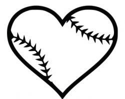 Hearts clipart softball