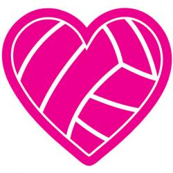 Hearts clipart volleyball