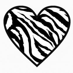 Hearts clipart zebra