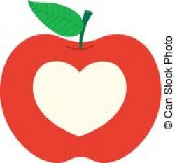 Heart-shaped clipart apple