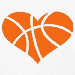 Heart-shaped clipart basketball