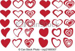 Heart-shaped clipart fancy