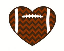 Heart-shaped clipart football