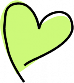 Heart-shaped clipart funky