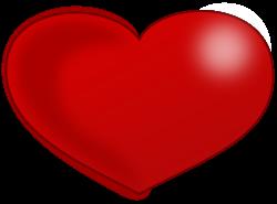 Heart-shaped clipart glossy