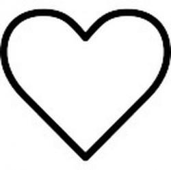 Heart-shaped clipart half heart