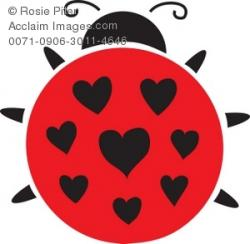 Heart-shaped clipart ladybug