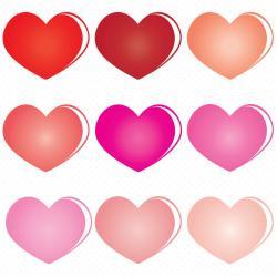 Heart-shaped clipart line art