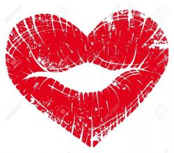 Heart-shaped clipart lip