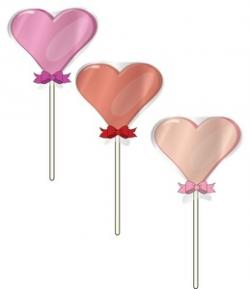 Heart-shaped clipart lollipop