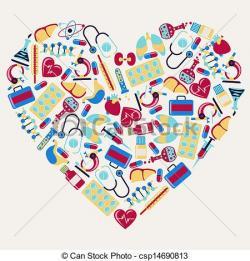 Heart-shaped clipart medical heart