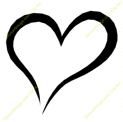 Heart-shaped clipart open heart